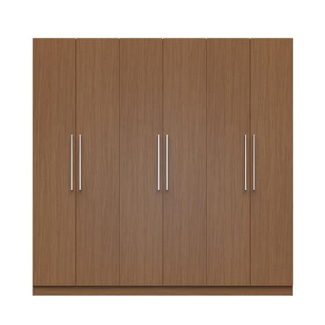 manhattan comfort eldridge 2 0 91 in maple 3 sectional wardrobe with 4 drawers and 6