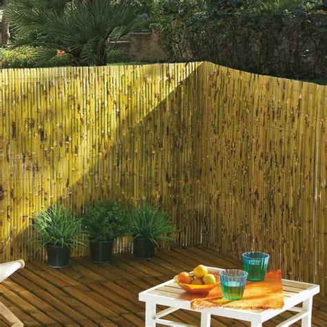 Brise Vue En Bambou Brise Vue Jardin Esth 233 Tique Et Pratique