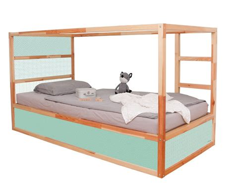 Ikea Kinderhochbett Mit Schreibtisch by Kinder Hoch Bett Kinderhochbett Jon In Blau Mit Stauraum
