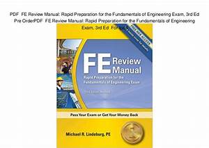 Pdf Fe Review Manual  Rapid Preparation For The