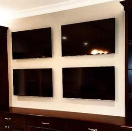 Flat Screens   Wall Multiple Tvs Mounted