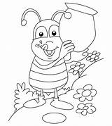 Coloring Bug Pages Printable Insects Bee Ones Ant sketch template