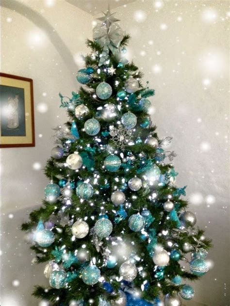 ideas  teal christmas tree  pinterest