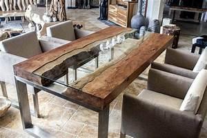 Holztisch Mit Metallgestell : sch nheit massivholztisch mit edelstahl holztisch ausziehbar eiche bianco massiv beine min ~ Markanthonyermac.com Haus und Dekorationen