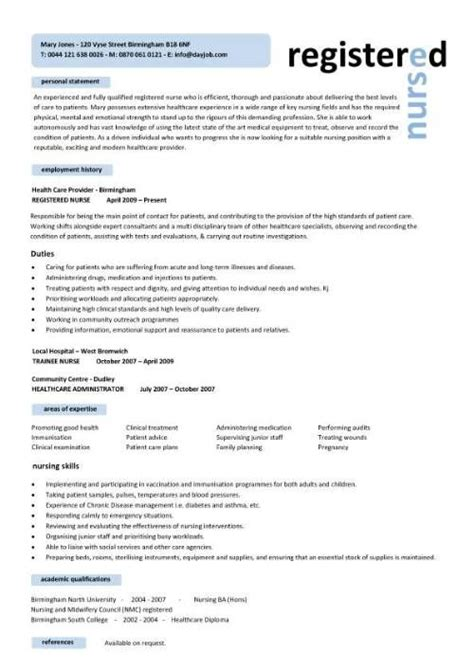 Resume Format For Nurses by Free Professional Resume Templates Free Registered