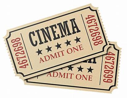 Cinema Tickets Retro Ticket Admit Pair Isolated
