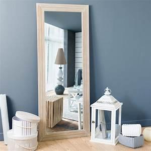Miroir En Bois De Paulownia H 145 Cm CAMPAGNE Maisons Du