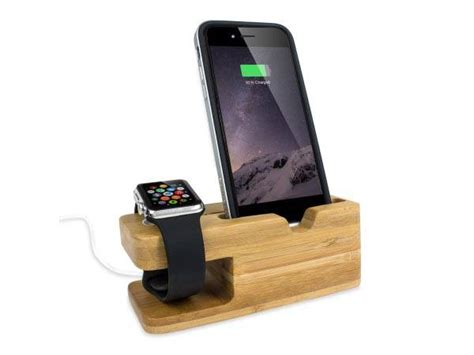 iphone charging station olixar bamboo iphone and apple charging station