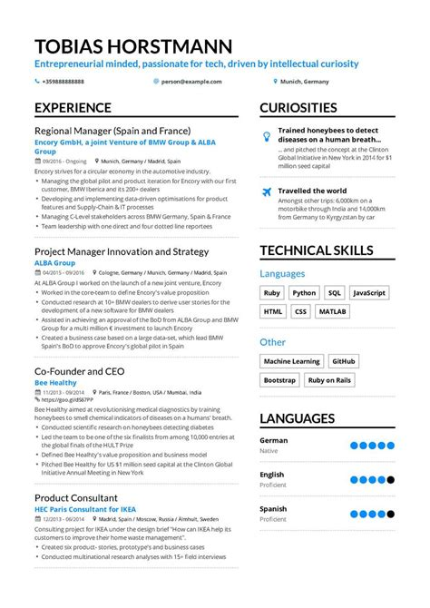 Resume Creation Form by The Best 2019 Project Manager Resume Exle Guide