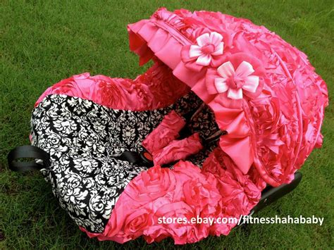 Baby 3d Hot Pink Infant Car Seat Cover Canopy Cover Fit