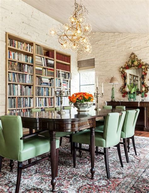 Bookcase In Dining Room by Trendy Duo Dining Room Library Bookshelves