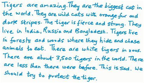 Essay on wild animals tiger