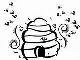 Bing Coloring Honeycomb Bee Arabic sketch template