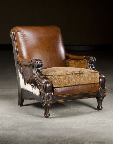 leather fabric hair hide chair decor
