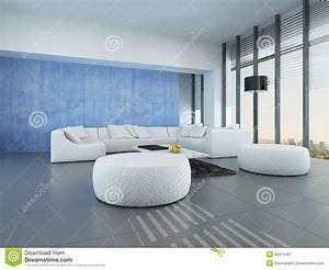 Salon Gris Blanc : salon gris bleu et blanc contemporain illustration stock illustration du jour gris 42475481 ~ Dallasstarsshop.com Idées de Décoration