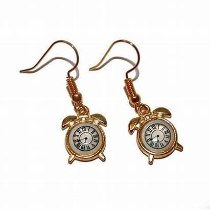 Alarm Clock Earrings Doctor Retro