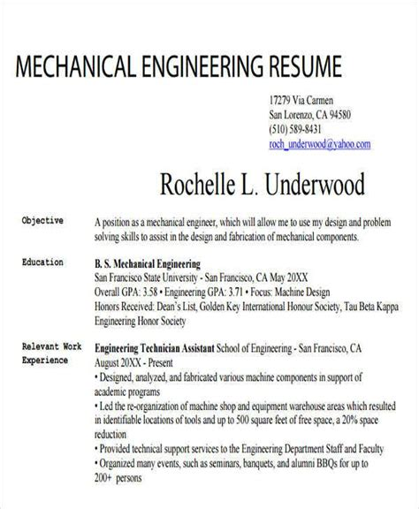 Mechanical engineer resume samples and writing guide for 2021. 25+ Generic Engineering Resume Templates | Free & Premium ...