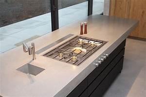 Arbeitsplatte Küche Beton : moderne betonk che kombiniert mit holz und elektroger ten ~ Watch28wear.com Haus und Dekorationen