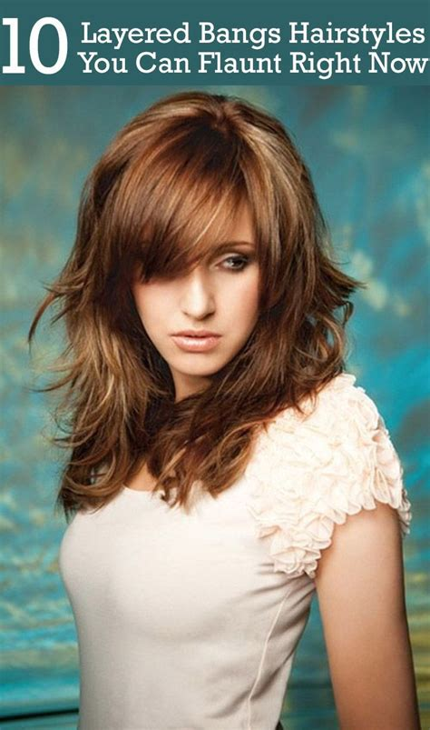 best 25 layered bangs hairstyles ideas side part bangs hair with bangs and