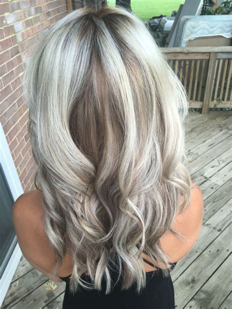 Light Silver Hair by Silver Metallic With Caramel Smudge Low Light
