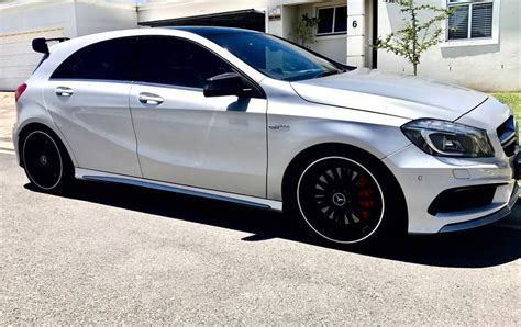 It is available in 4 colours. Mercedes A45 AMG A-class OEM AMG Style Roof Spoiler Kit. | Fast Factory