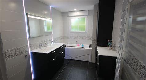 meuble double vasque  coiffeuse sur mesure en noir