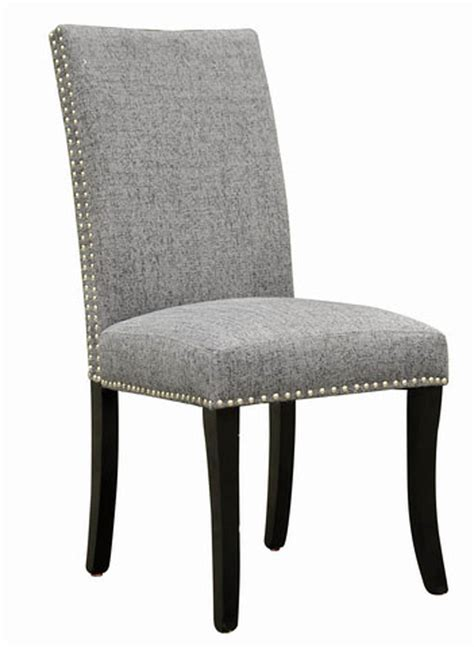 Accent Nail Side Chair  Set Of 2 (dark Gray) [lcdesich