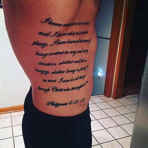 Tattoo Quotes On The Ribs