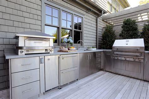 Stainless Steel Outdoor Kitchen   Kitchen Decor Design Ideas