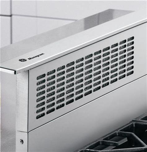 zvbwhww ge monogram  white telescopic downdraft vent hood monogram appliances