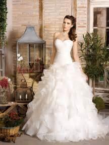 ruffle bridesmaid dress organza strapless shirred bodice classic wedding dress with ruffle skirt groupdress