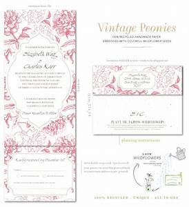 all in one wedding invitations on seeded paper vintage With all in one wedding invitations recycled
