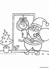 Santa Coloring Claus Read Pages Printable sketch template
