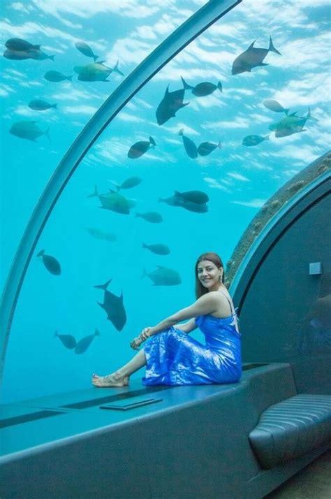 kajal agarwal honey moon pics   water resort
