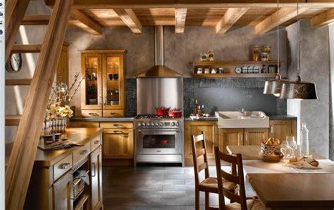 cuisine avec gaziniere cuisine style cagne plus de 50 idées pour une déco réussie