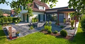 maison moderne avec terrasse et pelouse les nouveaux With good exemple de jardin de maison 0 image maison avec jardin