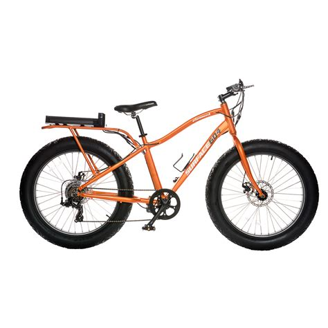matte orange element wide grip fat electric bike matte orange