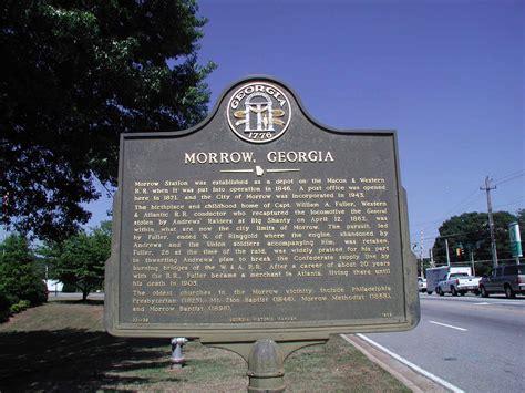 morrow ga morrow georgia marker historic markers across georgia