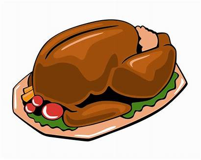 Turkey Dinner Cartoon Cooked Clipart Meat Clip