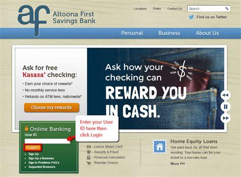 Altoona First Savings Bank Online Banking Login