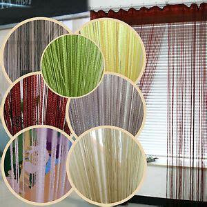 rideau a fil rideau fils 224 fil voilage porte fen 234 tre frange string curtain 200x100 7 couleur ebay