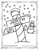 Coloring Pole North Santa Pages Printable Northpole Activities Games sketch template