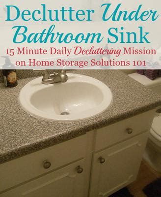 How To Declutter Under Bathroom Sink Cabinets