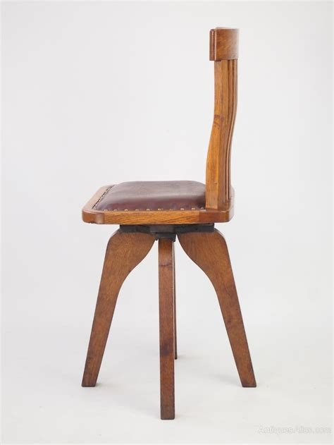 small desk chair small oak swivel desk chair antiques atlas
