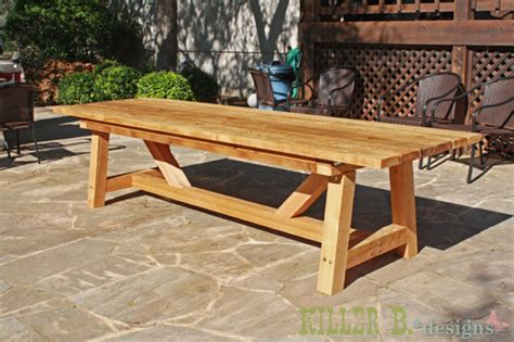 Outdoors Tables : 10 Foot Long Provence Table With 4x4's