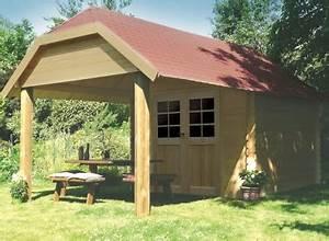 Abri De Jardin Demontable : abri de jardin en bois brut 28 mm avec auvent ~ Nature-et-papiers.com Idées de Décoration