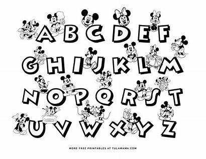 Mickey Mouse Coloring Printable Alphabet Worksheets Abc