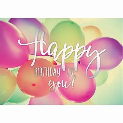 Birthday Happy Luftballons Geburtstag Pastel Dich Fuer