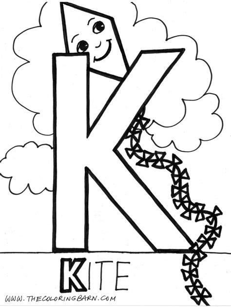 5 letter colors letter k coloring page coloring home