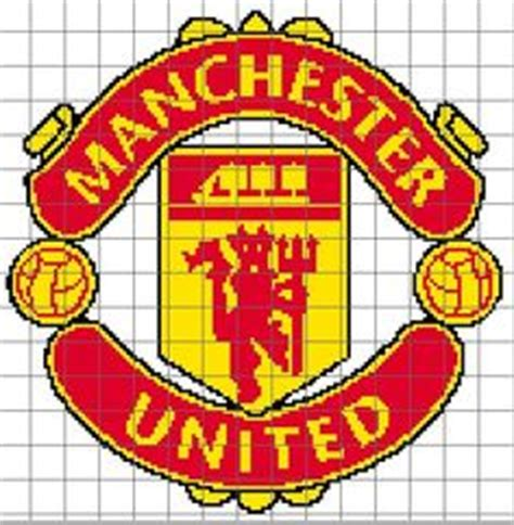 manchester united logo embroidery kit  cross stitch